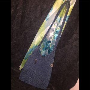 The SAK's Blue Crocheted Shoulder Bag